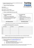 School Membership Form