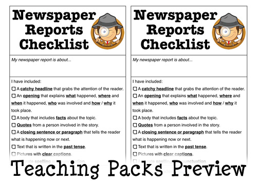The Newspaper Reports Pack