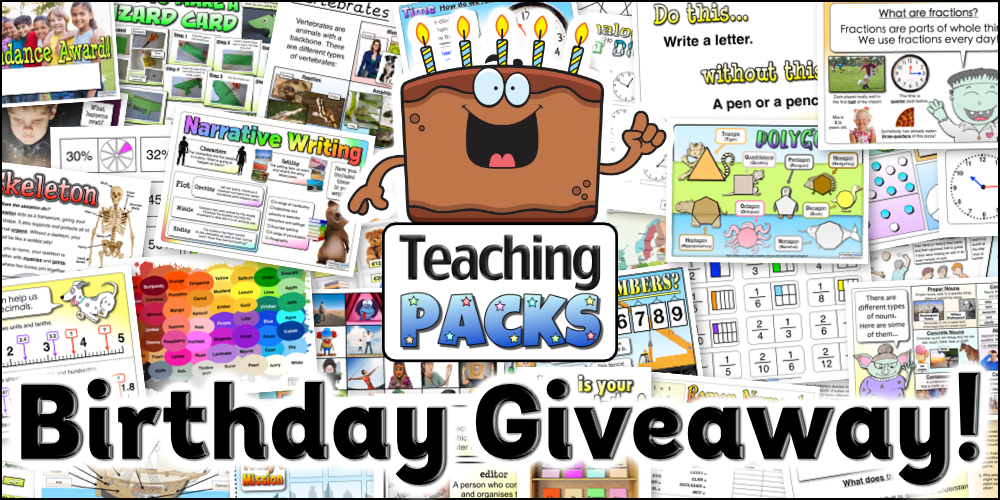 Teaching Packs Birthday Giveaway!